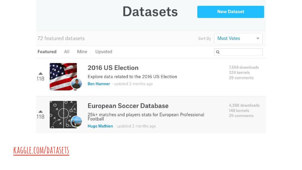 kaggle.com/datasets