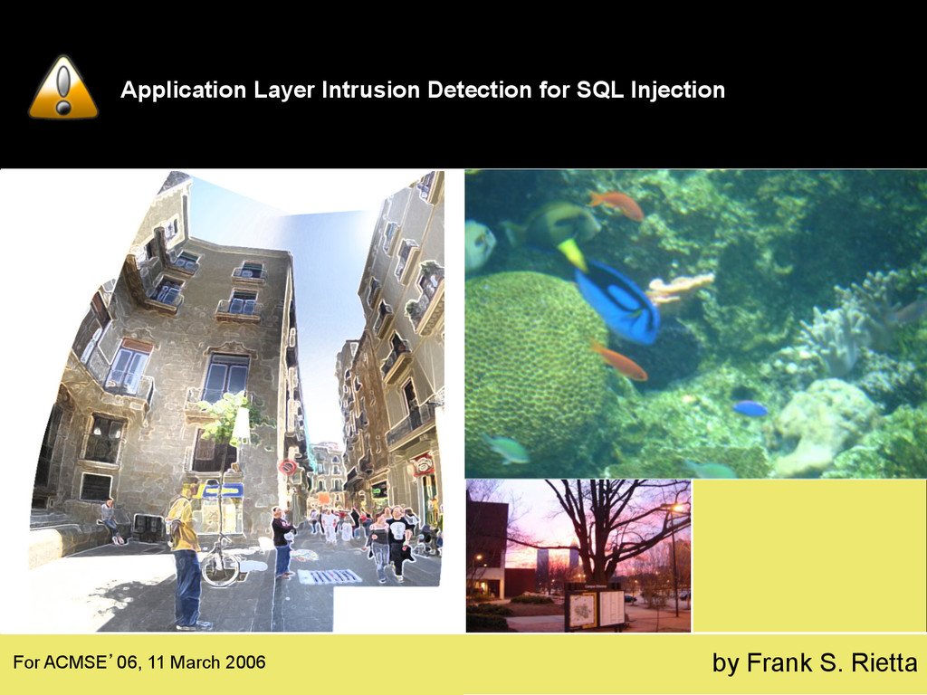 Application Layer Intrusion Detection for SQL I...