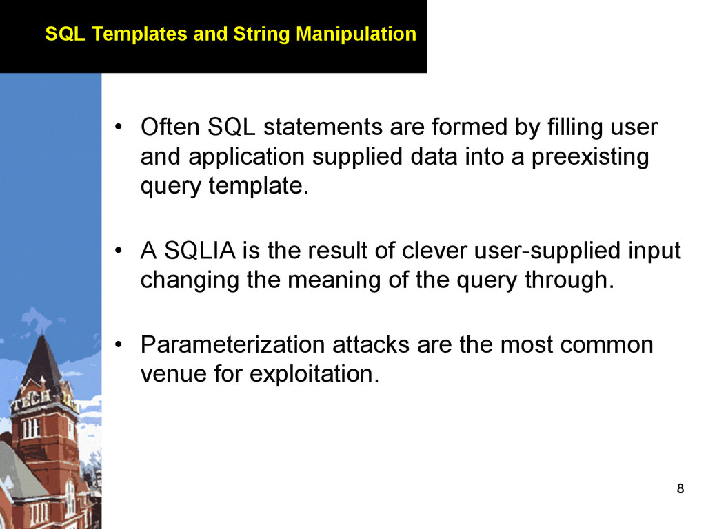 8 SQL Templates and String Manipulation • Ofte...