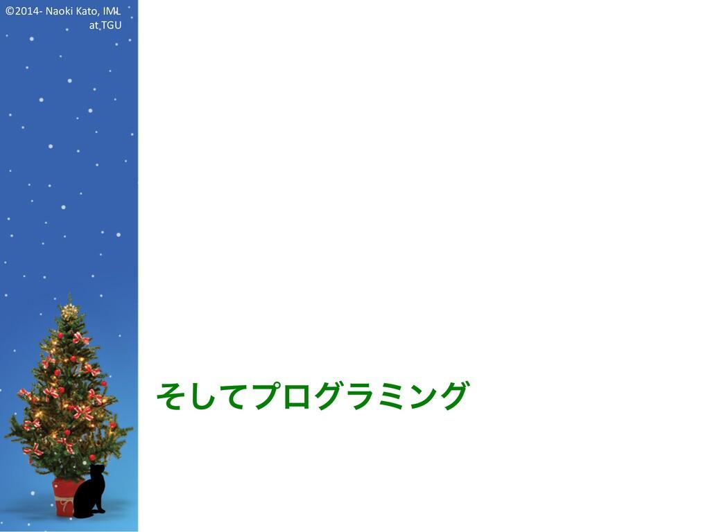 ©2014- Naoki Kato, IML at TGU そしてプログラミング