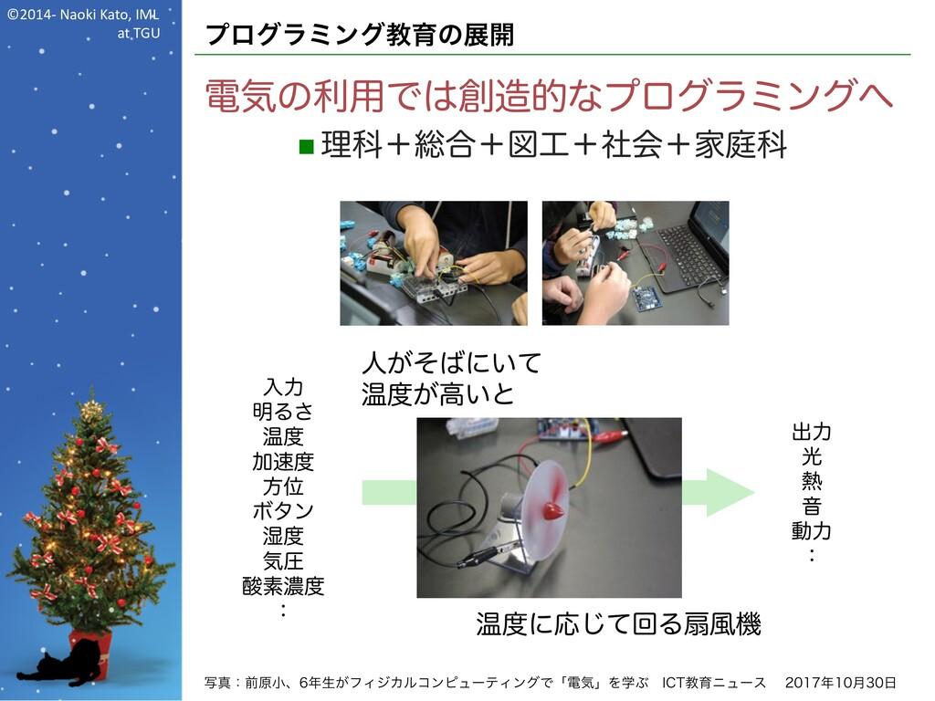 ©2014- Naoki Kato, IML at TGU プログラミング教育の展開 電気の利...