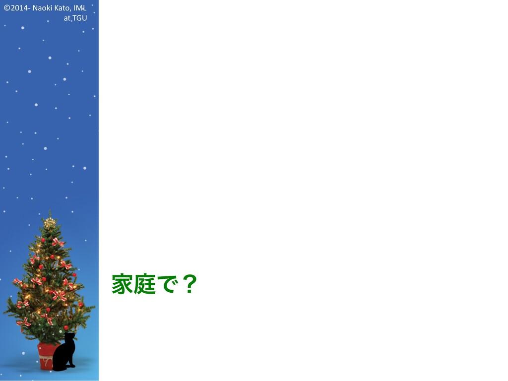 ©2014- Naoki Kato, IML at TGU 家庭で?
