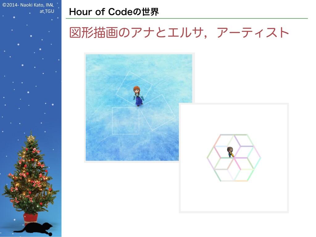 ©2014- Naoki Kato, IML at TGU Hour of Codeの世界 図...