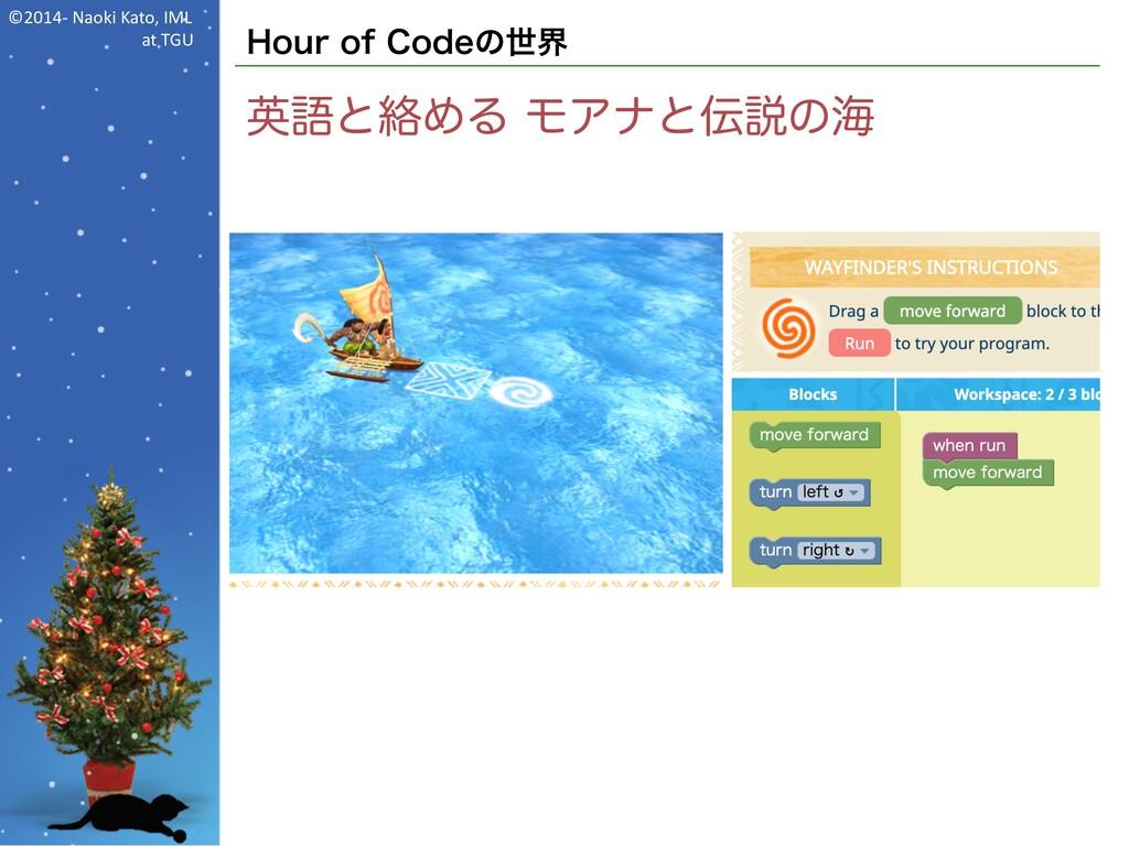 ©2014- Naoki Kato, IML at TGU Hour of Codeの世界 英...
