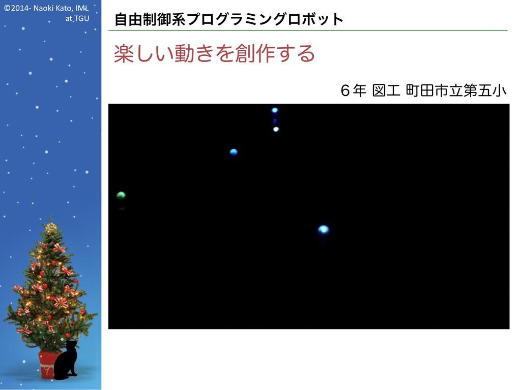©2014- Naoki Kato, IML at TGU 自由制御系プログラミングロボット ...