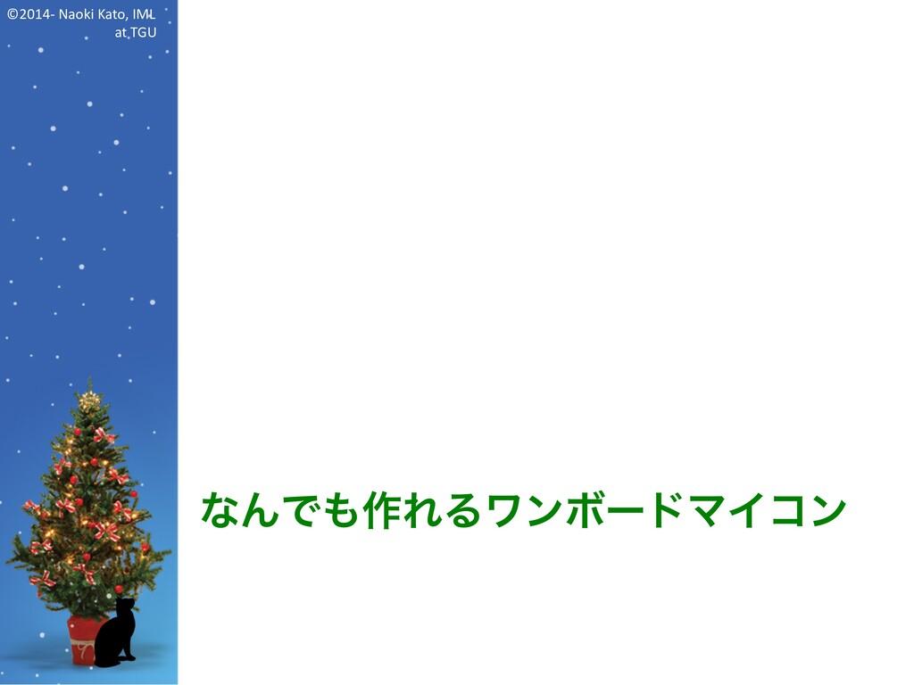©2014- Naoki Kato, IML at TGU なんでも作れるワンボードマイコン
