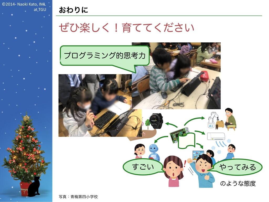 ©2014- Naoki Kato, IML at TGU おわりに ぜひ楽しく!育ててくださ...