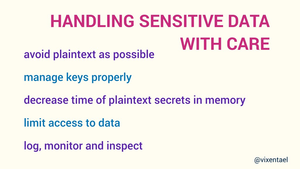 HANDLING SENSITIVE DATA WITH CARE avoid plainte...