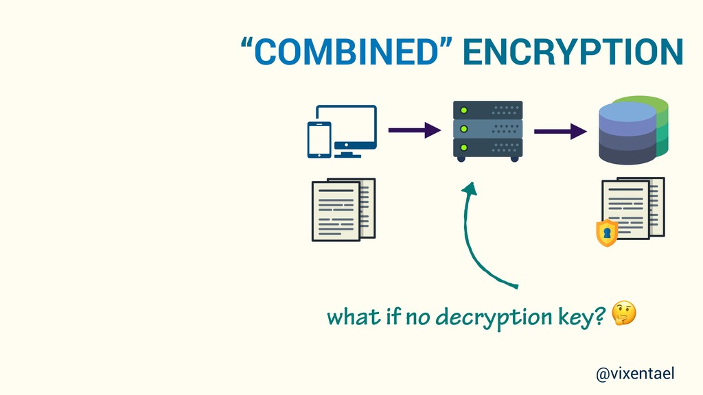"""COMBINED"" ENCRYPTION @vixentael what if no dec..."