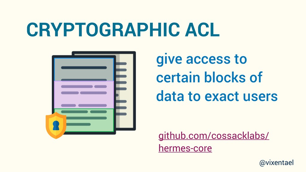 give access to certain blocks of data to exact ...