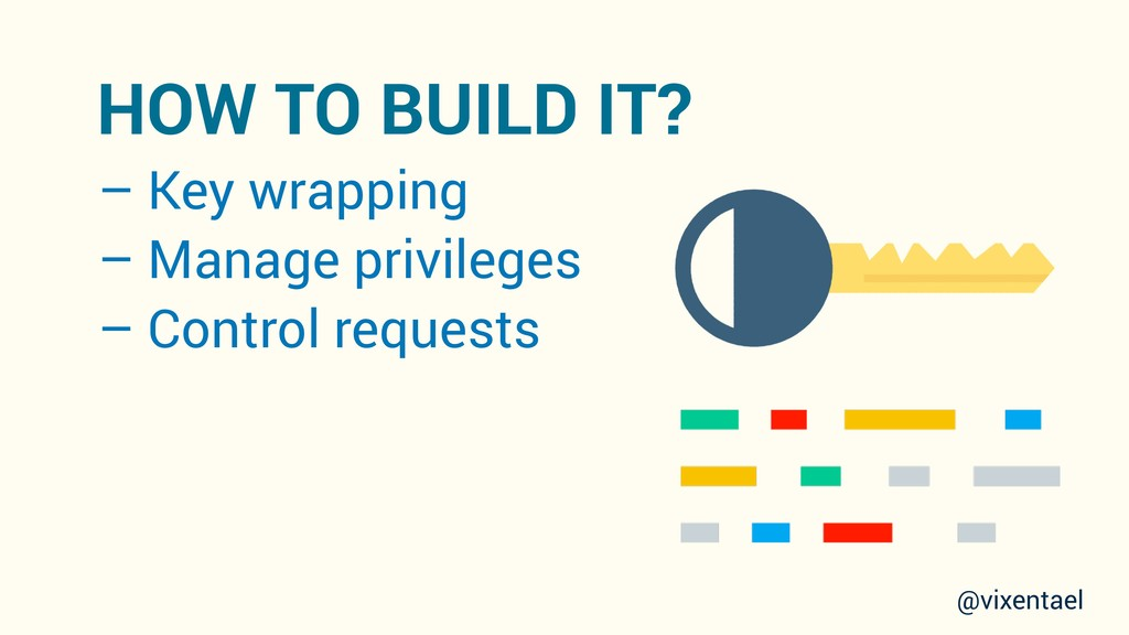 – Key wrapping – Manage privileges – Control re...