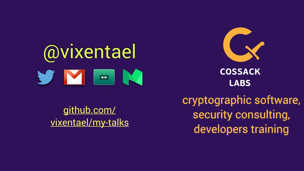 @vixentael cryptographic software, security con...