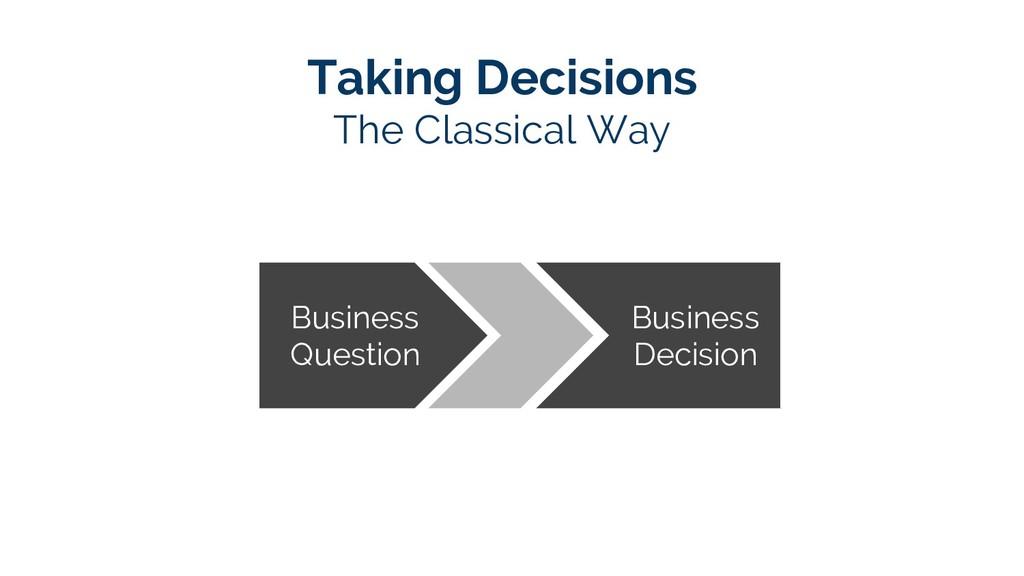 Business Question Business Decision Taking Deci...