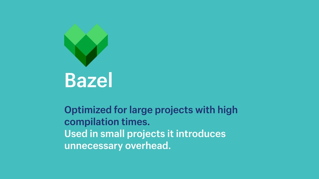 Bazel Optimized for large projects with high co...