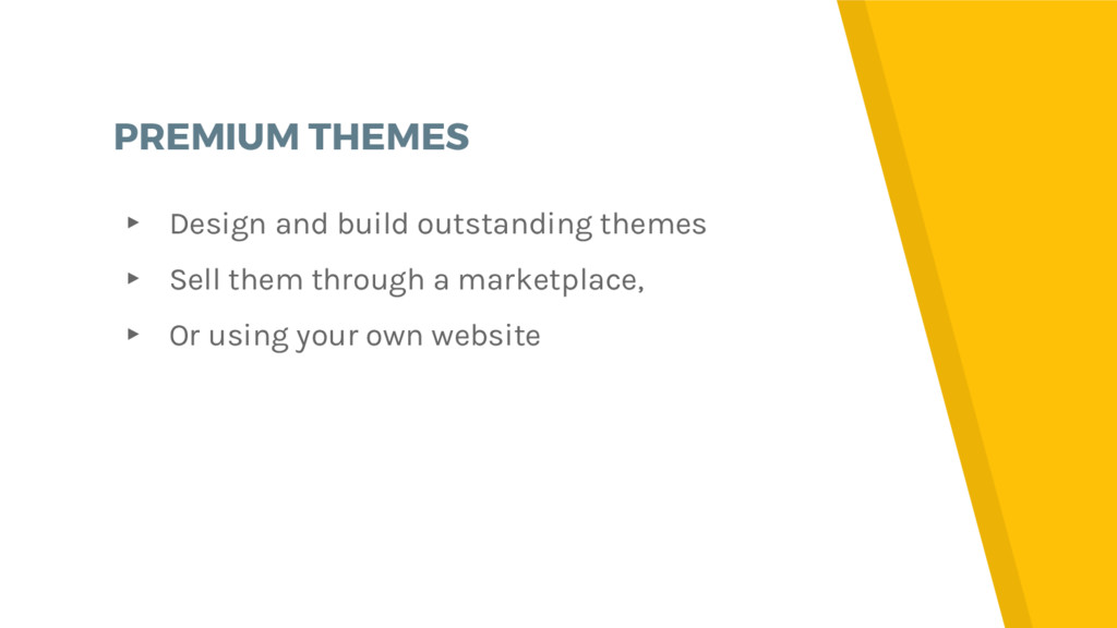 PREMIUM THEMES ▸ Design and build outstanding t...