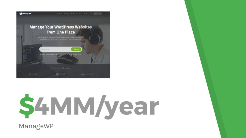 $4MM/year ManageWP