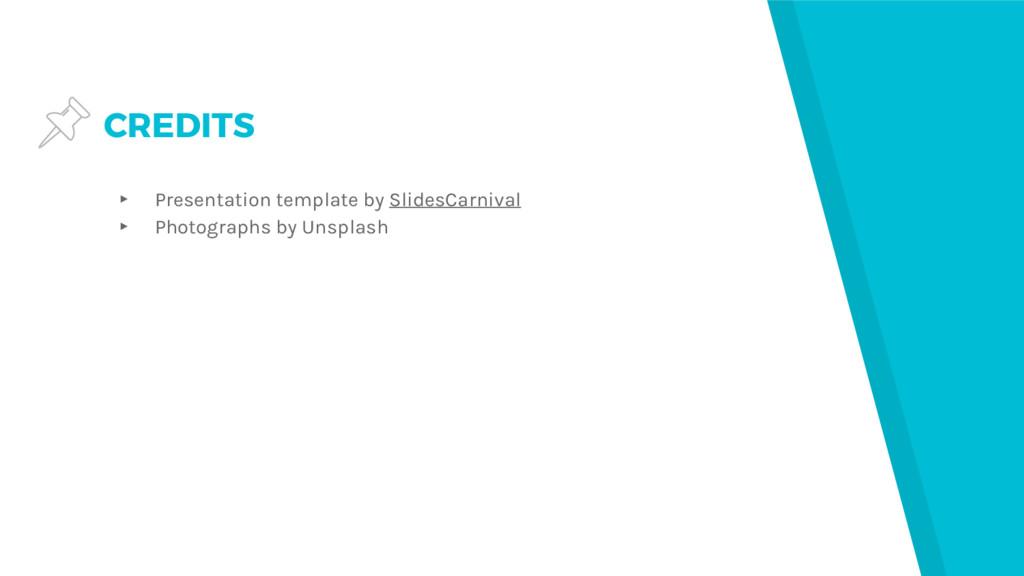 CREDITS ▸ Presentation template by SlidesCarniv...