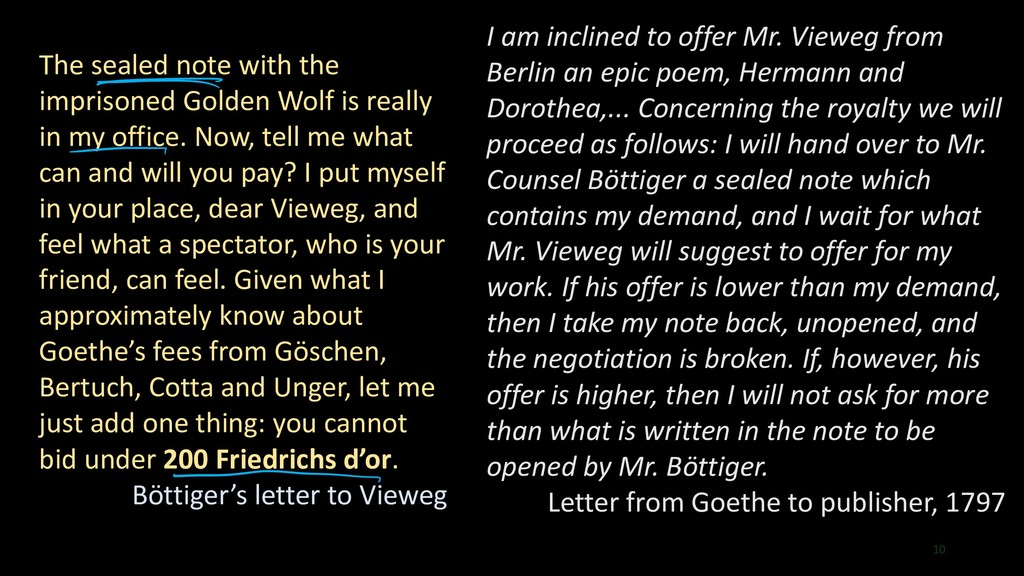 10 I am inclined to offer Mr. Vieweg from Berli...