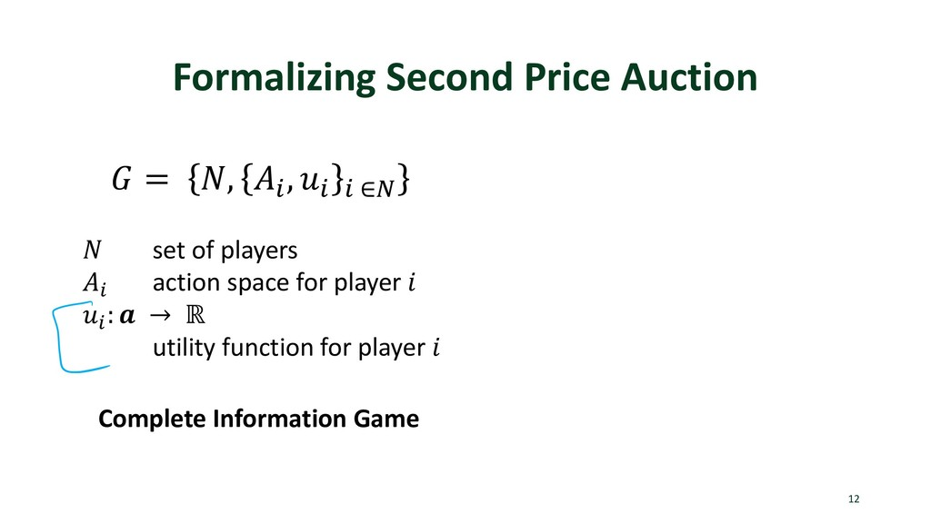 Formalizing Second Price Auction 12  = , . , . ...