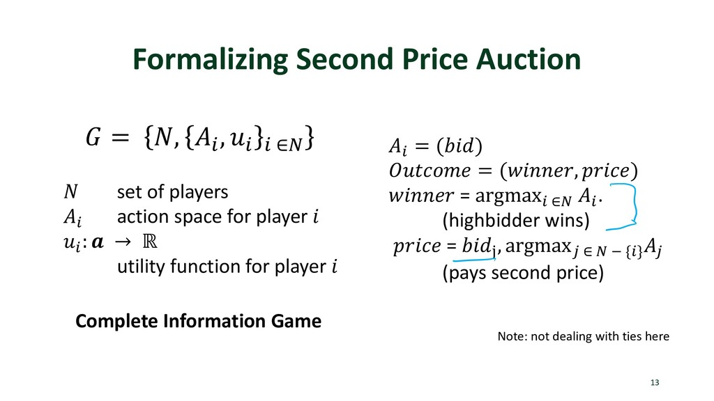 Formalizing Second Price Auction 13  = , . , . ...