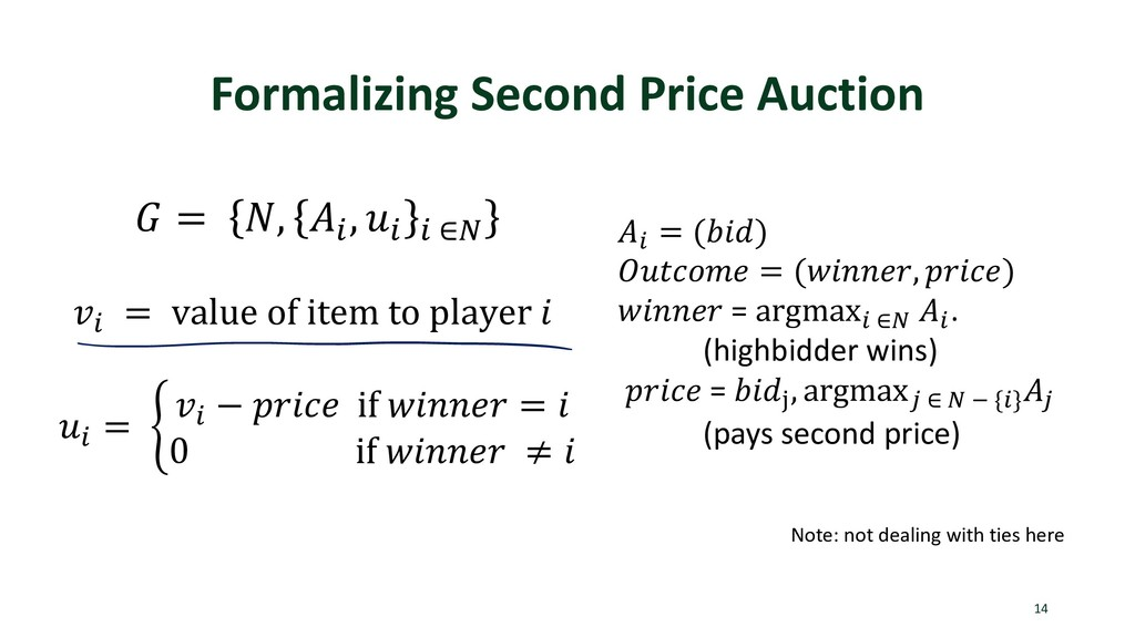Formalizing Second Price Auction 14  = , . , . ...