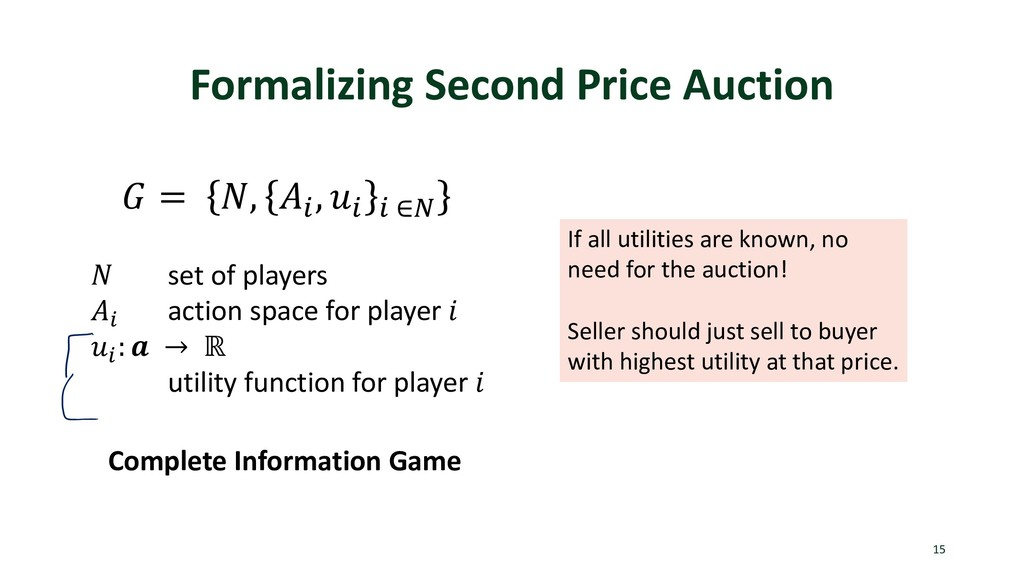 Formalizing Second Price Auction 15  = , . , . ...