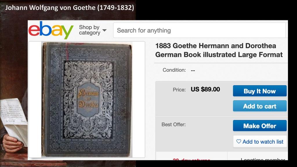 4 Johann Wolfgang von Goethe (1749-1832)