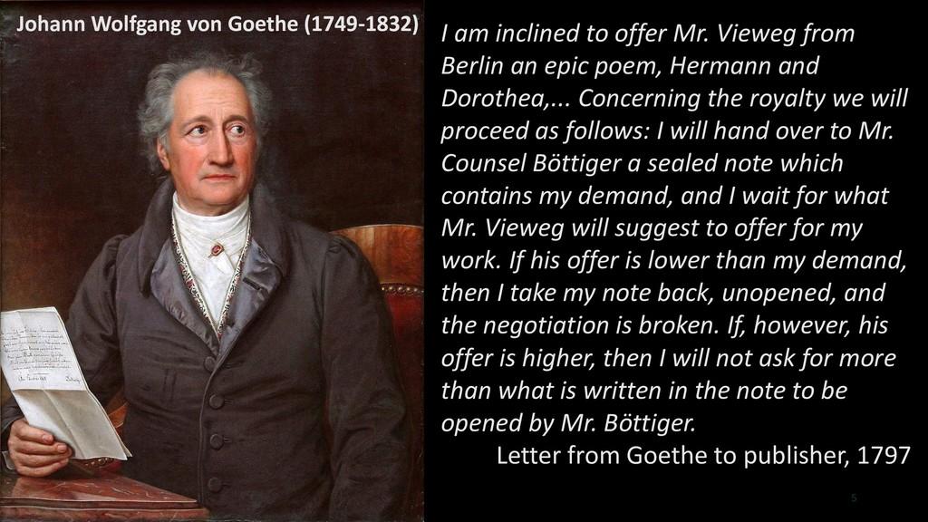 5 Johann Wolfgang von Goethe (1749-1832) I am i...
