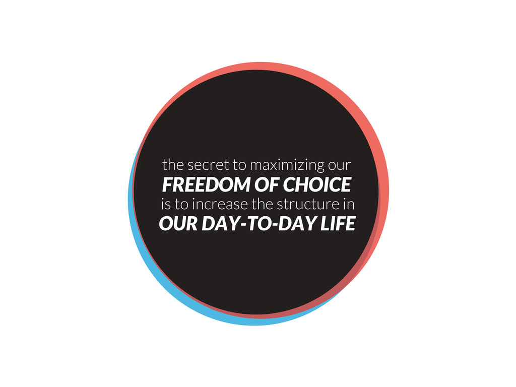 the secret to maximizing our FREEDOM OF CHOICE ...
