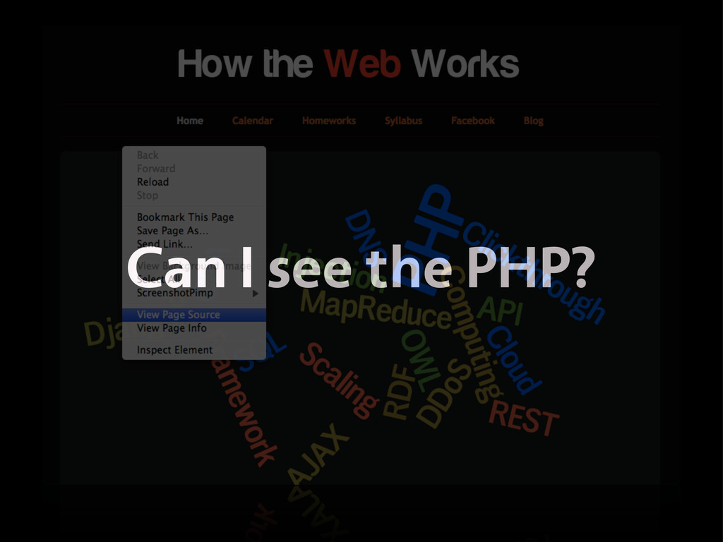 Can I see the PHP?