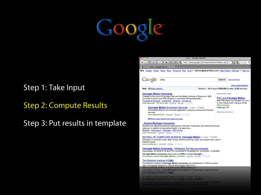 Step 1: Take Input Step 2: Compute Results Step...