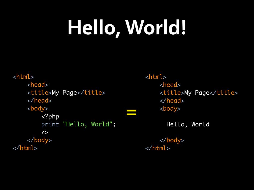Hello, World! <html> <head> <title>My Page</tit...