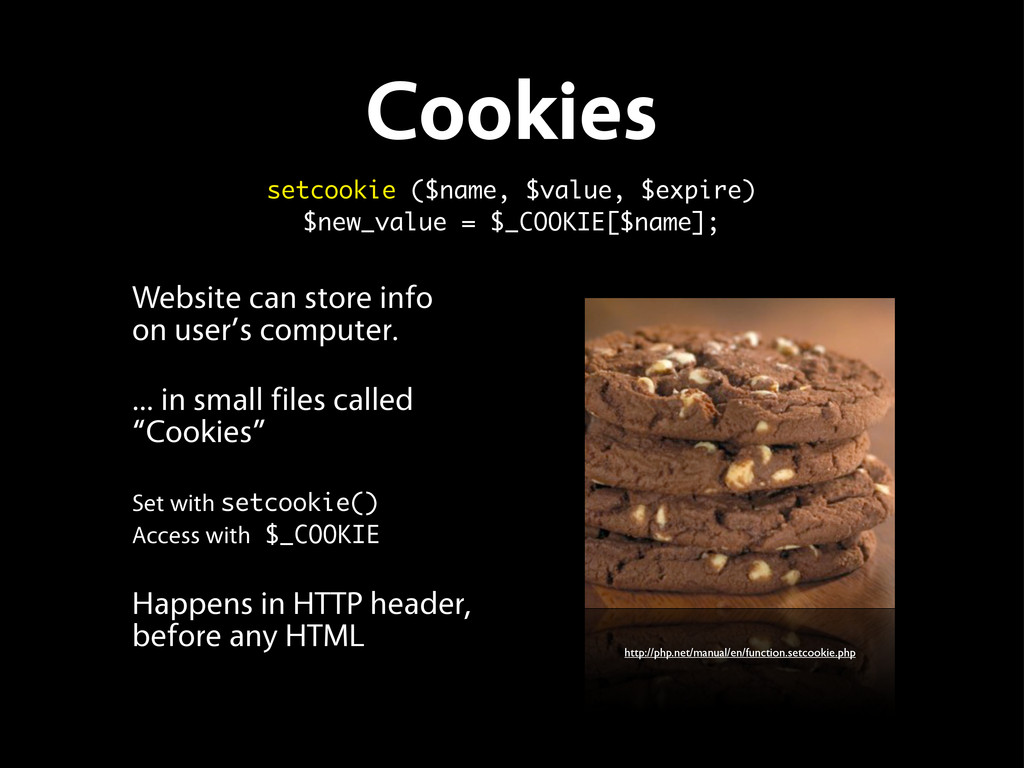 Cookies Website can store info on user's comput...