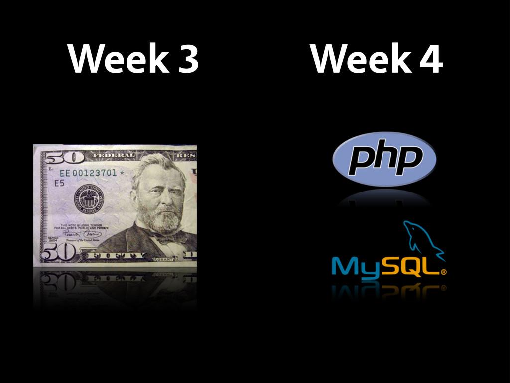 Week 3 Week 4