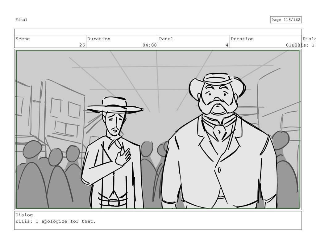 Scene 26 Duration 04:00 Panel 4 Duration 01:00 ...