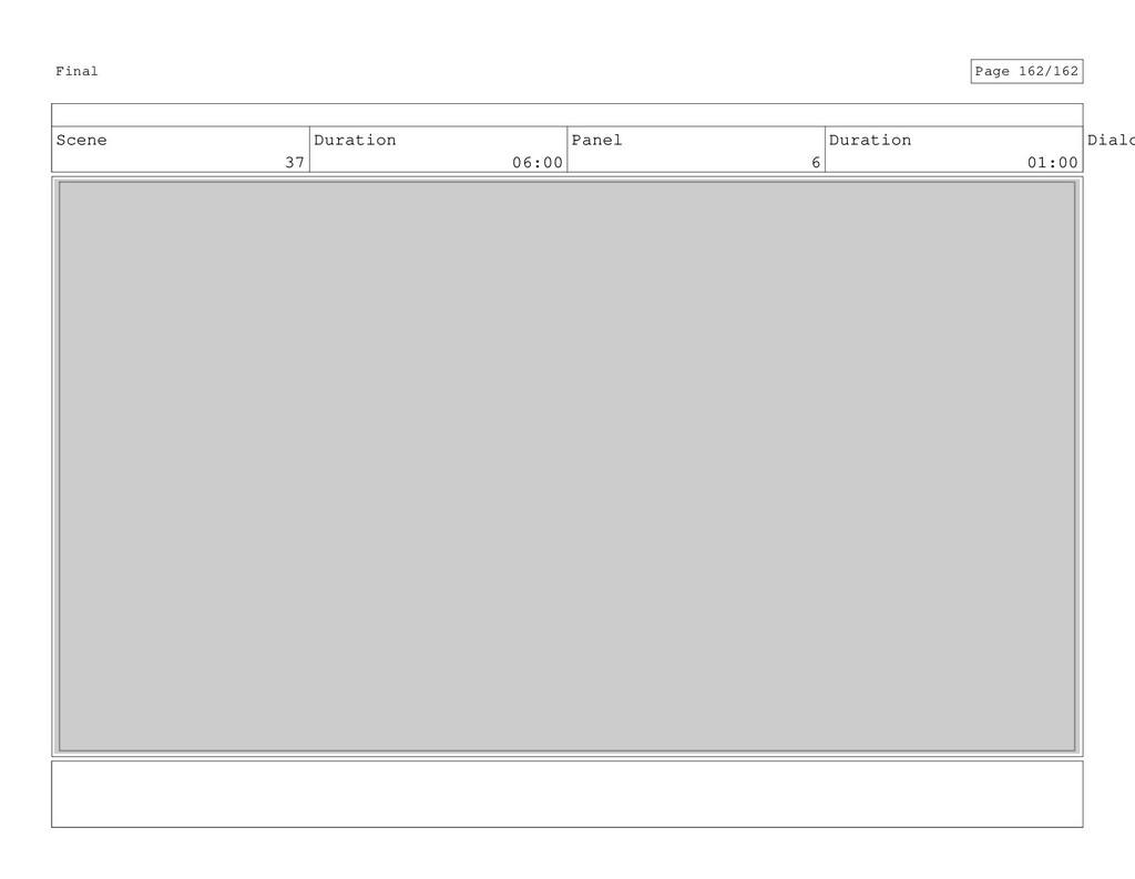 Scene 37 Duration 06:00 Panel 6 Duration 01:00 ...