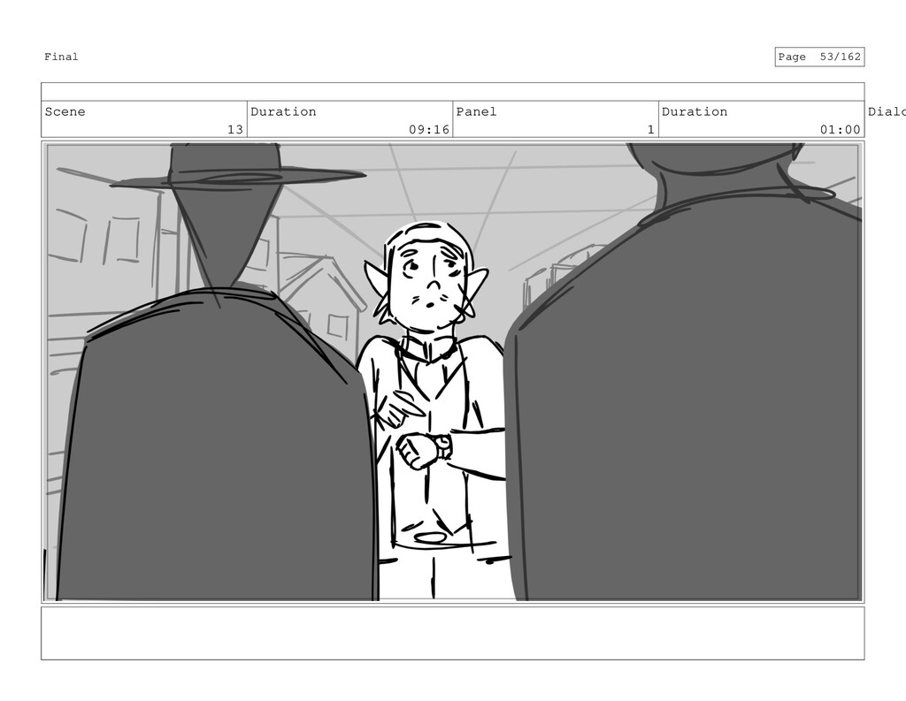 Scene 13 Duration 09:16 Panel 1 Duration 01:00 ...