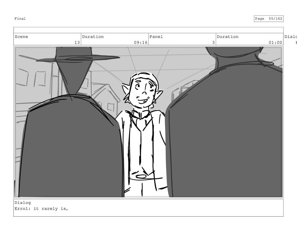 Scene 13 Duration 09:16 Panel 3 Duration 01:00 ...
