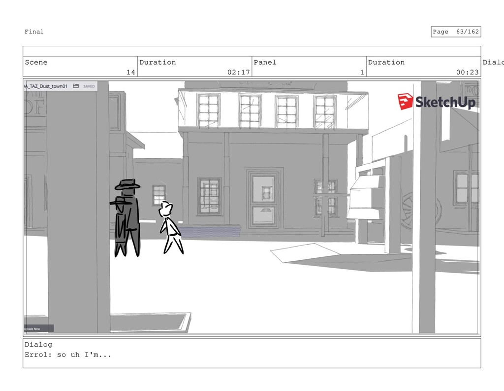Scene 14 Duration 02:17 Panel 1 Duration 00:23 ...