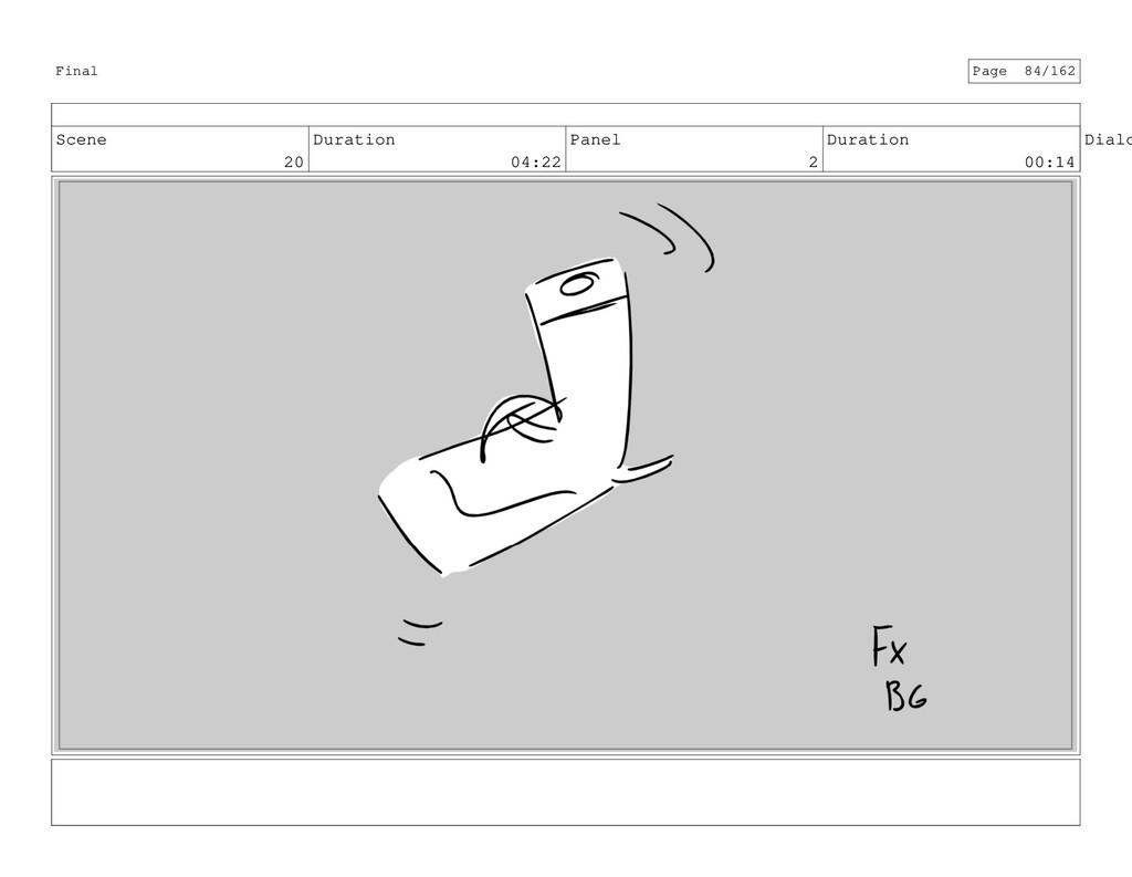 Scene 20 Duration 04:22 Panel 2 Duration 00:14 ...