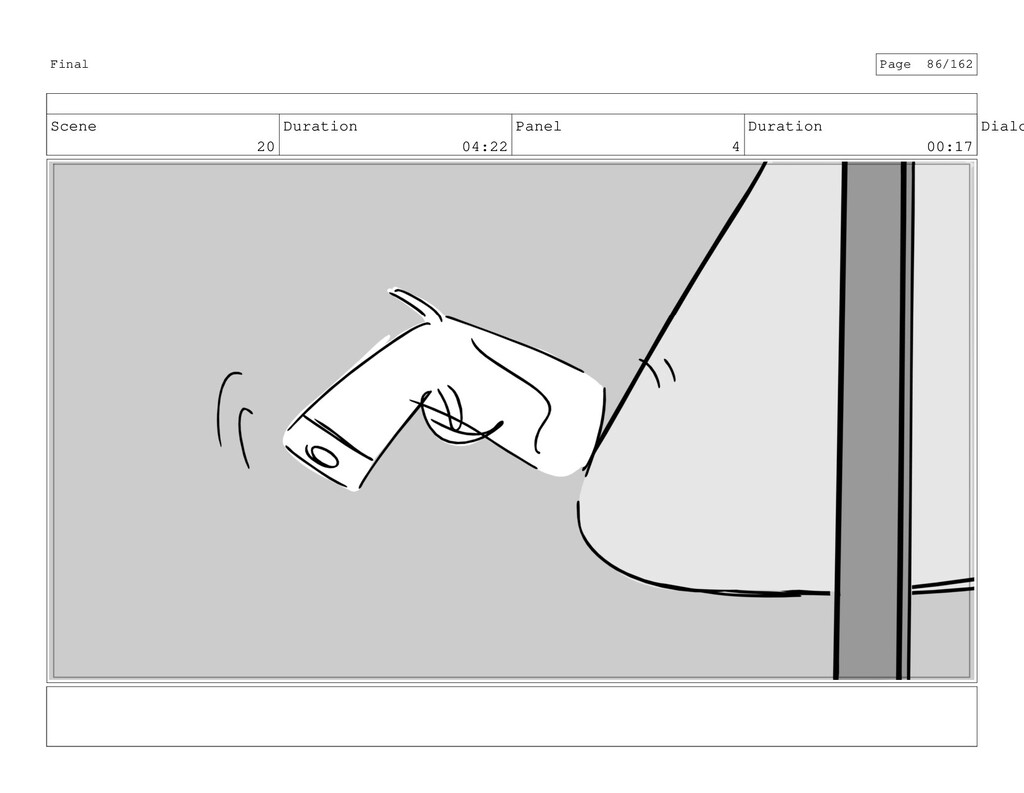 Scene 20 Duration 04:22 Panel 4 Duration 00:17 ...