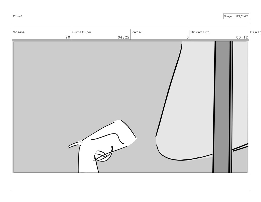 Scene 20 Duration 04:22 Panel 5 Duration 00:12 ...