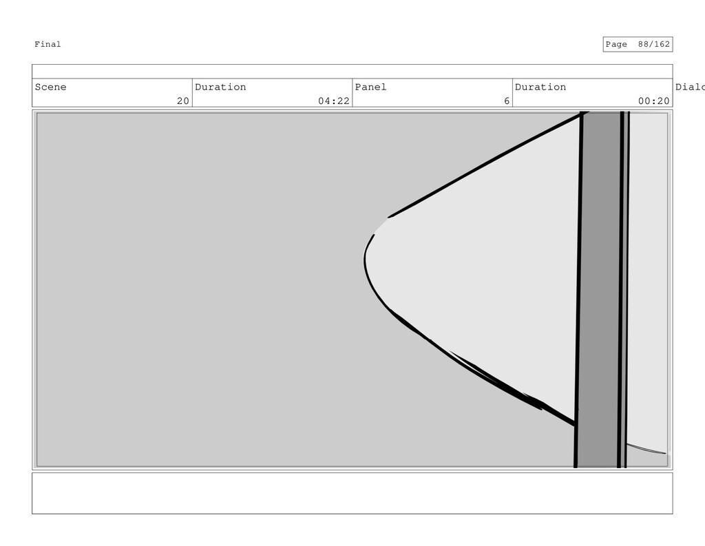 Scene 20 Duration 04:22 Panel 6 Duration 00:20 ...