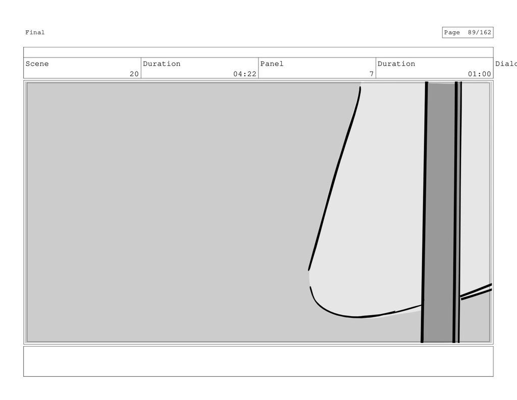Scene 20 Duration 04:22 Panel 7 Duration 01:00 ...