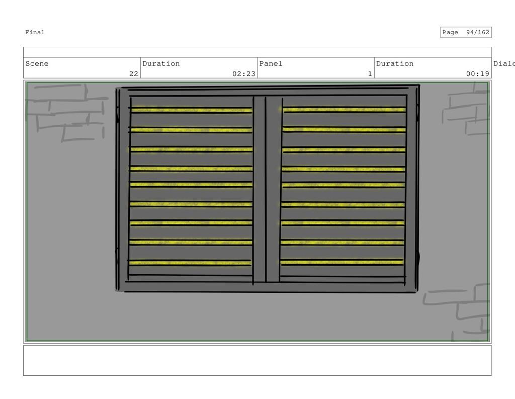 Scene 22 Duration 02:23 Panel 1 Duration 00:19 ...