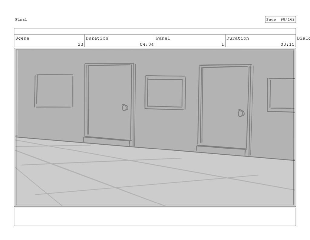 Scene 23 Duration 04:04 Panel 1 Duration 00:15 ...