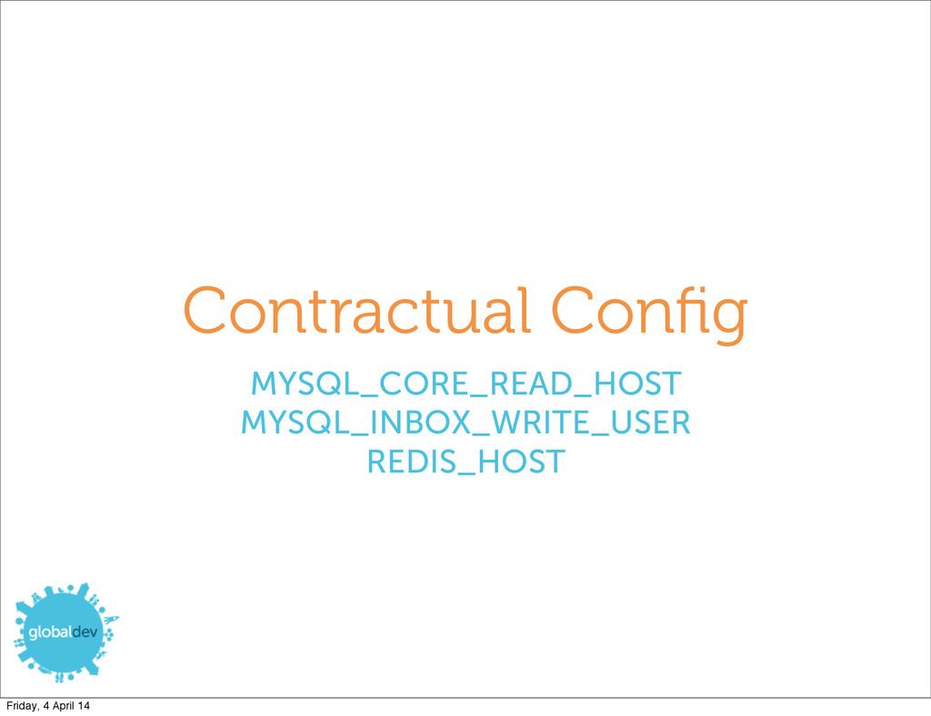 Contractual Config MYSQL_CORE_READ_HOST MYSQL_IN...