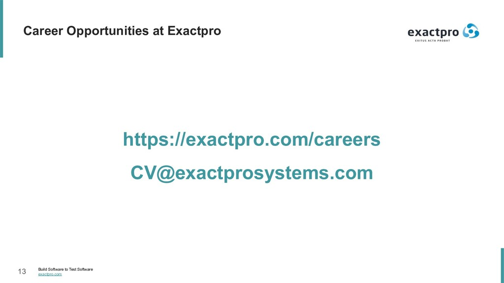 13 Build Software to Test Software exactpro.com...