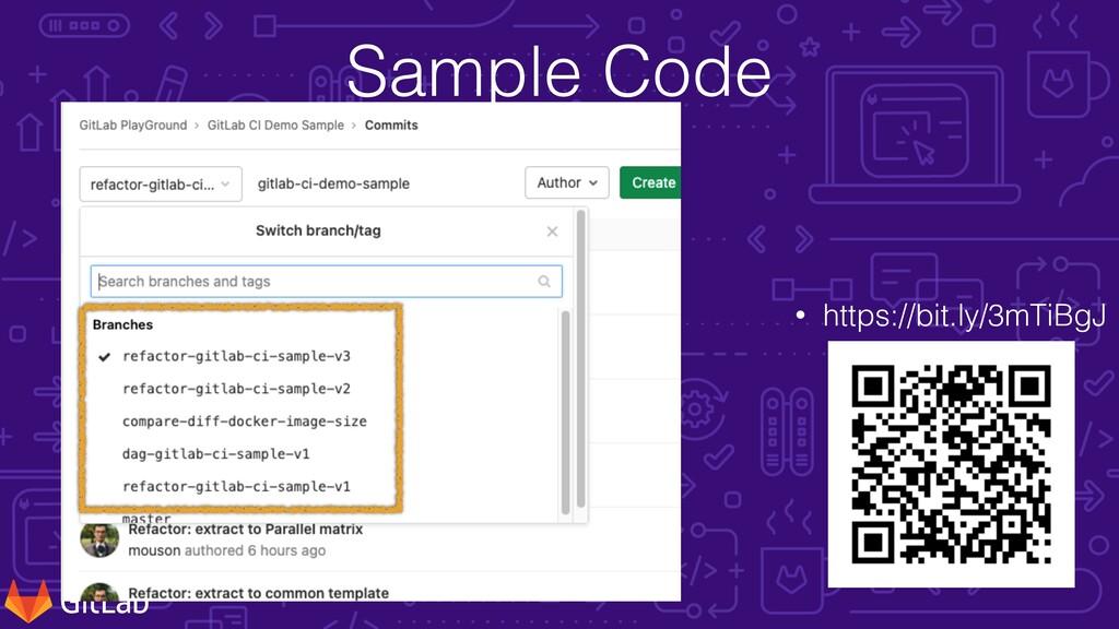 Sample Code • https://bit.ly/3mTiBgJ