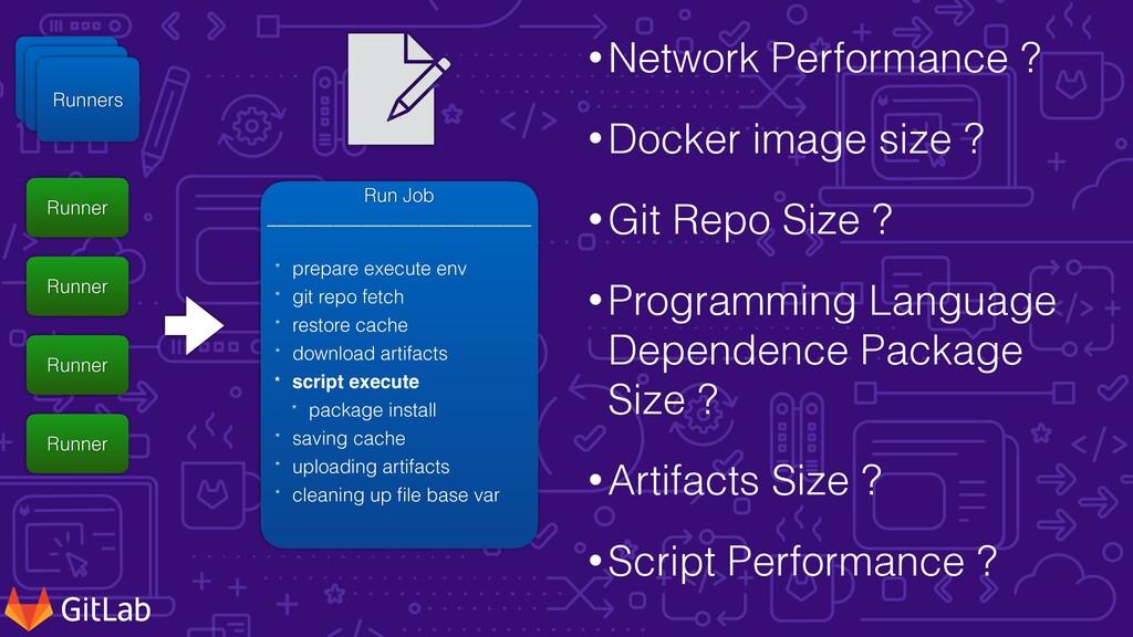 •Network Performance ?   •Docker image size ?  ...